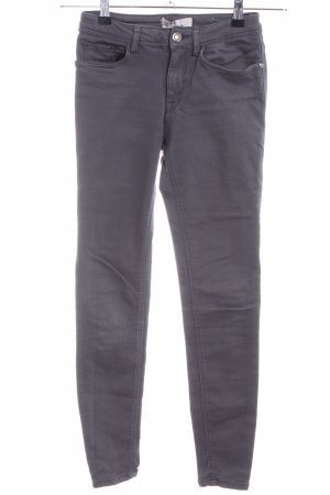 Zara Basic Stretch Trousers light grey casual look