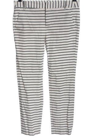 Zara Basic Stretch Trousers natural white-black striped pattern casual look