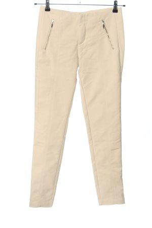 Zara Basic Stretch Trousers cream casual look