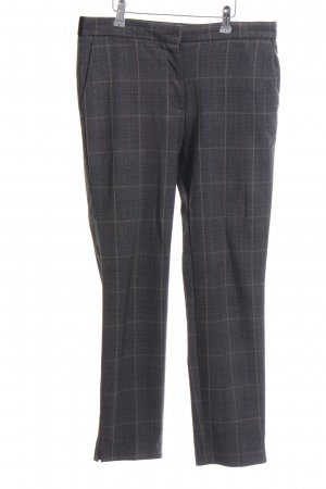 Zara Basic Stretch Trousers light grey-brown check pattern casual look