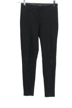 Zara Basic Spodnie ze stretchu czarny W stylu casual