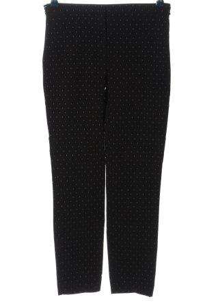 Zara Basic Stretchhose schwarz-weiß Allover-Druck Casual-Look