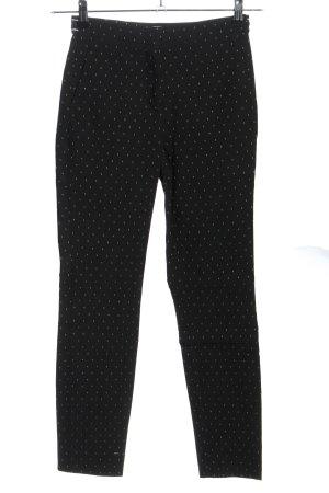 Zara Basic Stretch Trousers black-white allover print casual look