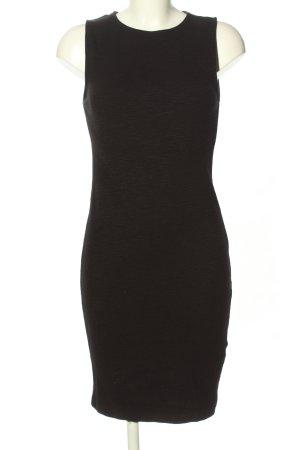 Zara Basic Stretchkleid schwarz Casual-Look