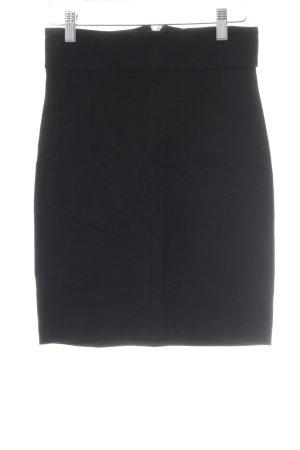 Zara Basic Stretchrock schwarz Casual-Look