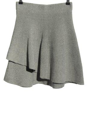 Zara Basic Spódnica ze stretchu biały-czarny Na całej powierzchni