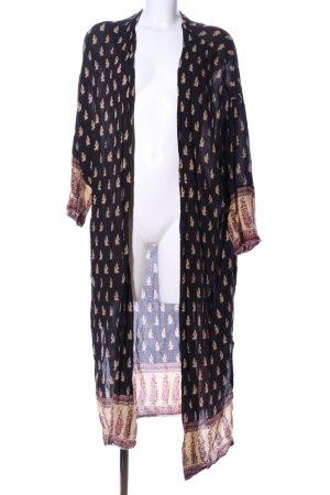 Zara Basic Kimono estampado repetido sobre toda la superficie look casual