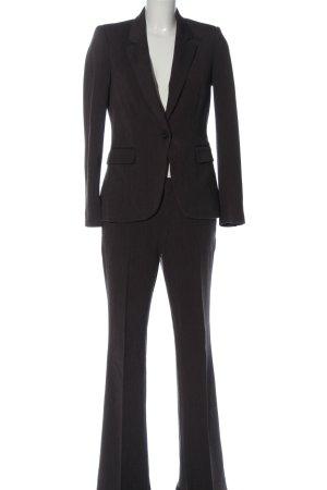 Zara Basic Twin set in maglia marrone puntinato stile professionale