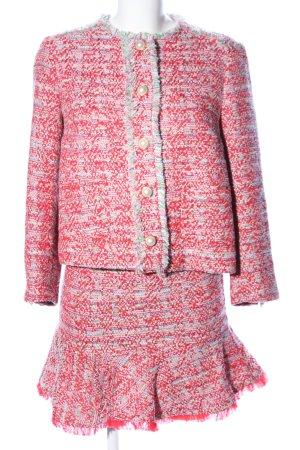Zara Basic Strick Twin Set rot Elegant