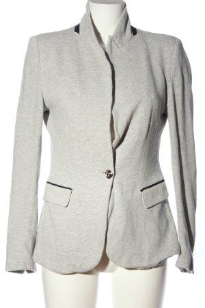 Zara Basic Strickblazer hellgrau meliert Business-Look