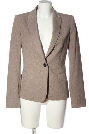 Zara Basic Knitted Blazer brown flecked casual look