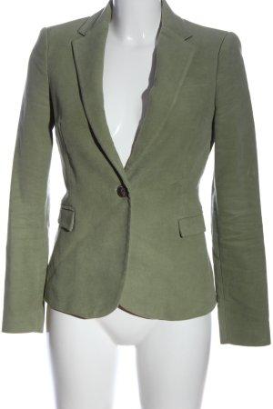 Zara Basic Marynarka z dzianiny khaki W stylu casual