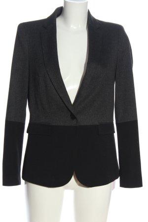 Zara Basic Strickblazer schwarz-hellgrau Business-Look