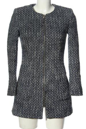 Zara Basic Strickblazer schwarz meliert Elegant