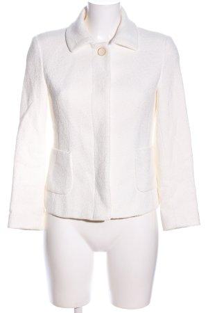Zara Basic Strickblazer weiß Business-Look
