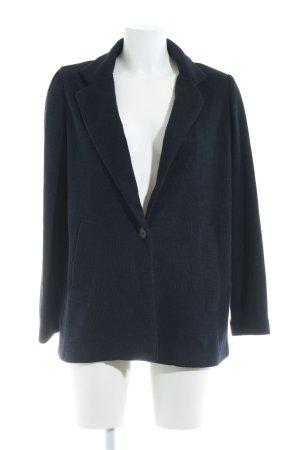 Zara Basic Strickblazer dunkelblau Casual-Look