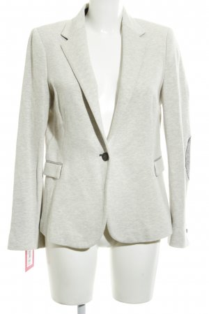 Zara Basic Strickblazer hellgrau Casual-Look