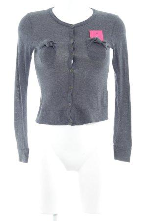 Zara Basic Strickjacke dunkelgrau Casual-Look
