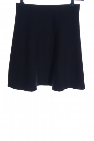 Zara Basic Knitted Skirt black casual look