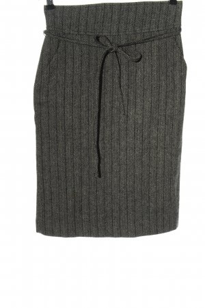 Zara Basic Knitted Skirt light grey-black flecked business style