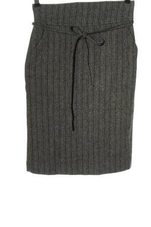 Zara Basic Gebreide rok lichtgrijs-zwart gestippeld zakelijke stijl