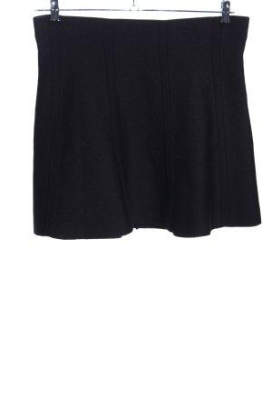 Zara Basic Knitted Skirt black business style