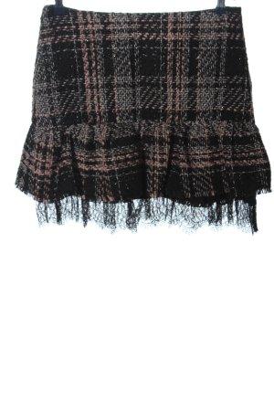 Zara Basic Gebreide rok geruite print casual uitstraling
