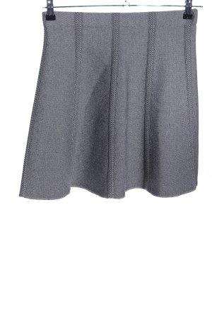 Zara Basic Strickrock hellgrau meliert Casual-Look