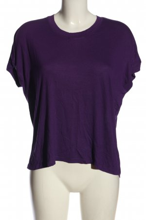 Zara Basic Strickshirt lila Casual-Look