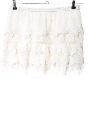 Zara Basic Broomstick Skirt natural white casual look