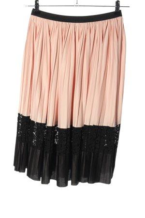 Zara Basic Broomstick Skirt pink-black casual look