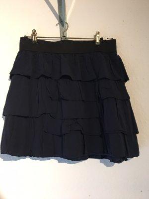 Zara Basic Broomstick Skirt dark blue
