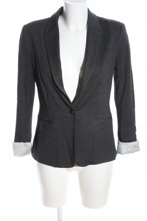 Zara Basic Sweatblazer hellgrau meliert Business-Look