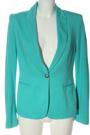 Zara Basic Sweat Blazer turquoise casual look