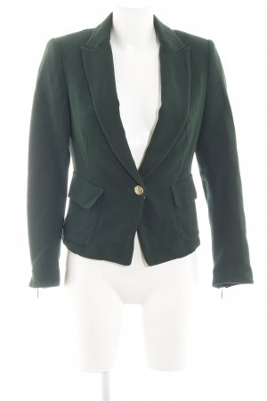 Zara Basic Sweatblazer grün Business-Look