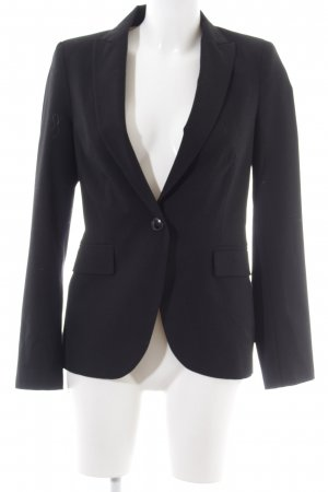 Zara Basic Sweatblazer schwarz Business-Look