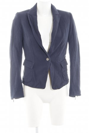 Zara Basic Sweatblazer blau Casual-Look
