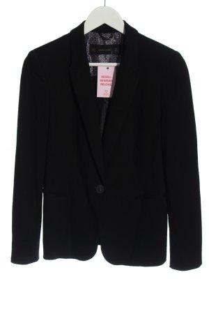 Zara Basic Sweatblazer schwarz Business-Look