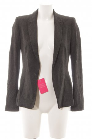 Zara Basic Sweatblazer dunkelgrau meliert Business-Look