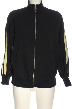 Zara Basic Sweat Jacket black casual look