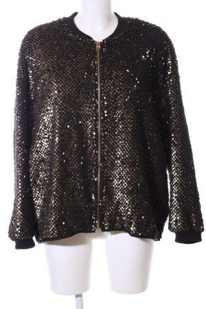 Zara Basic Sweatjacke bronzefarben-schwarz extravaganter Stil