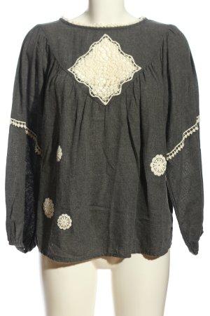 Zara Basic Sweatshirt gris clair moucheté style décontracté