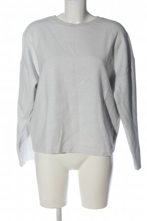 Zara Basic Sweatshirt hellgrau Casual-Look