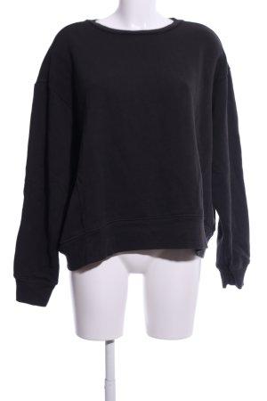 Zara Basic Sweatshirt schwarz Casual-Look