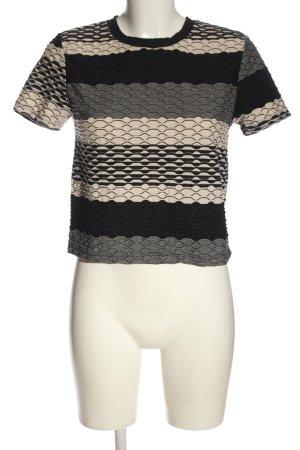Zara Basic T-Shirt Allover-Druck Casual-Look