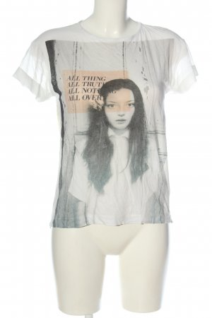 Zara Basic T-Shirt Motivdruck Casual-Look