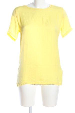 Zara Basic T-Shirt blassgelb Business-Look