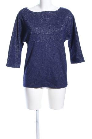 Zara Basic T-Shirt blau-silberfarben meliert Casual-Look