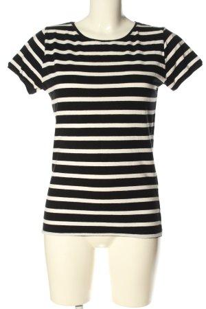 Zara Basic T-Shirt schwarz-weiß Allover-Druck Casual-Look