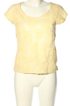 Zara Basic T-Shirt blassgelb Casual-Look